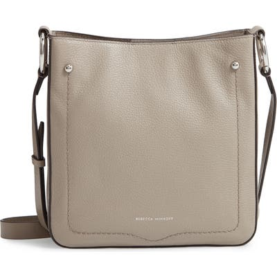 Rebecca Minkoff Jody Pebbled Leather Feed Bag - Grey