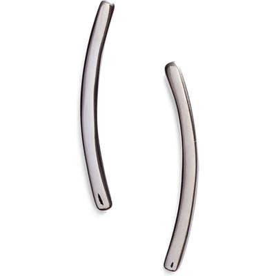 Nadri Curved Bar Stud Earrings