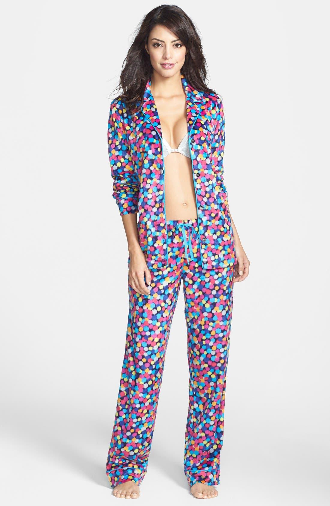 ,                             Long Sleeve Microfleece Pajamas,                             Alternate thumbnail 27, color,                             402