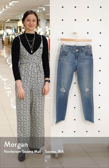 Suzy Ripped Fray Hem Ankle Skinny Jeans, sales video thumbnail