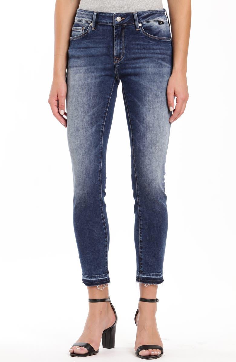 MAVI JEANS Adriana Raw Release Hem Skinny Jeans, Main, color, 401