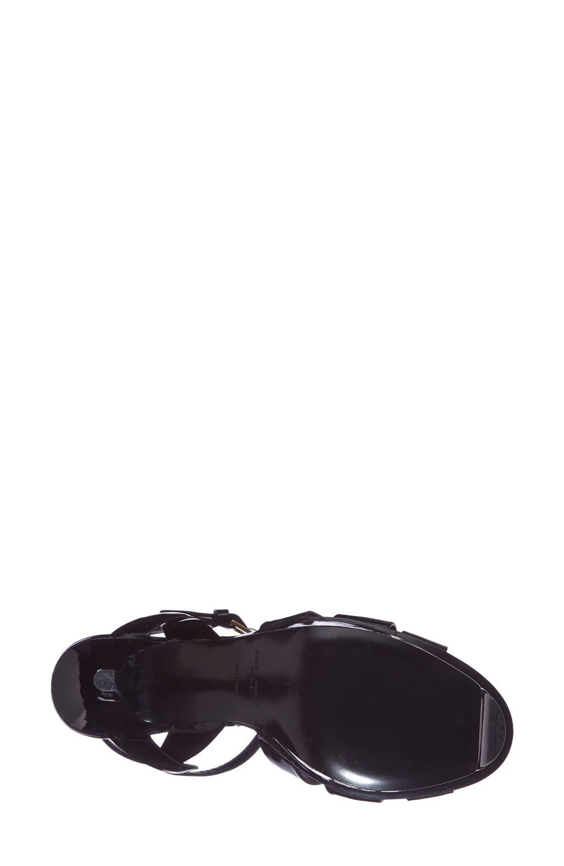 ,                             'Tribute' T-Strap Sandal,                             Alternate thumbnail 2, color,                             BLACK