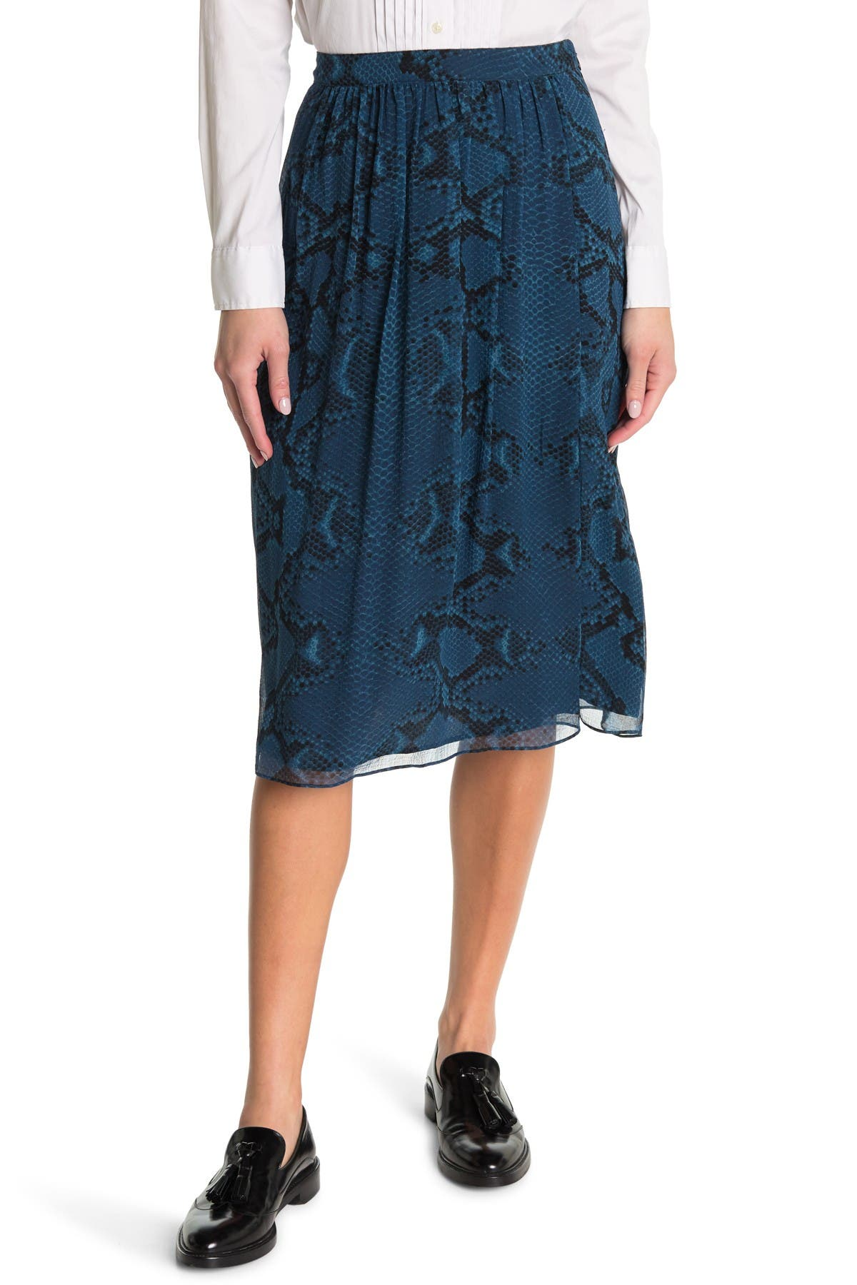 Image of Burberry Snake Embossed Skirt