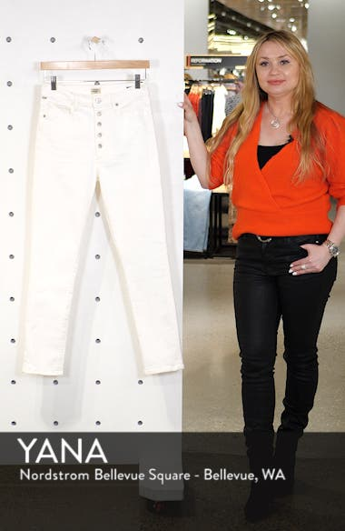 Olivia Button Fly High Waist Slim Jeans, sales video thumbnail