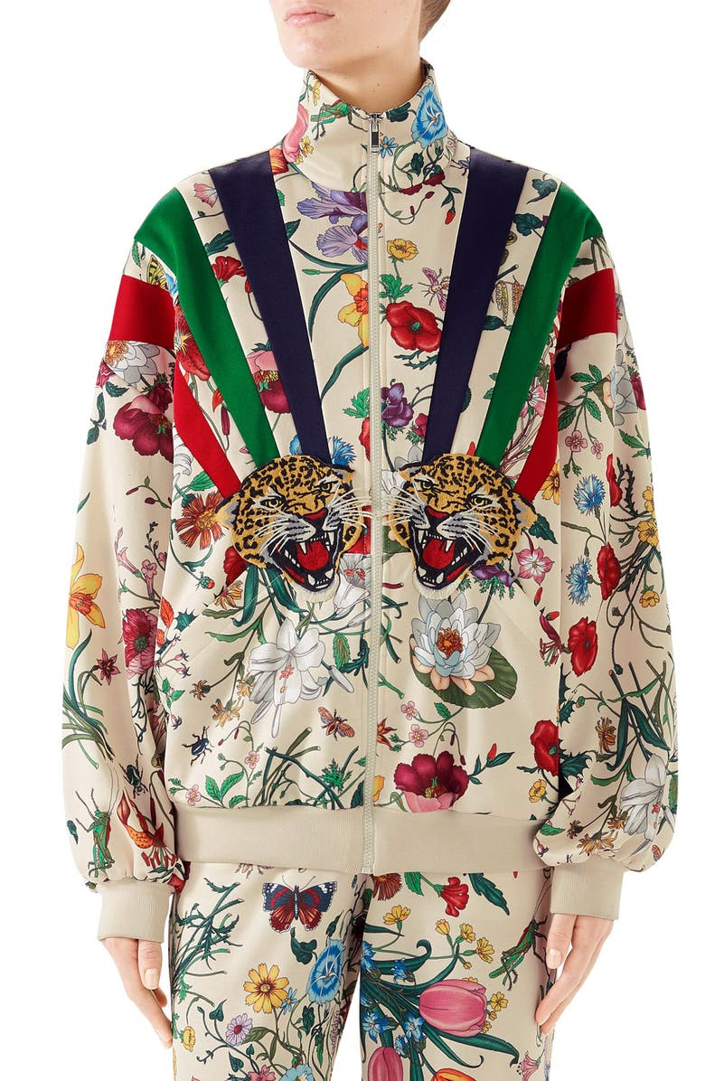 be965288 Gucci Chateau Marmont Floral Print Track Jacket | Nordstrom