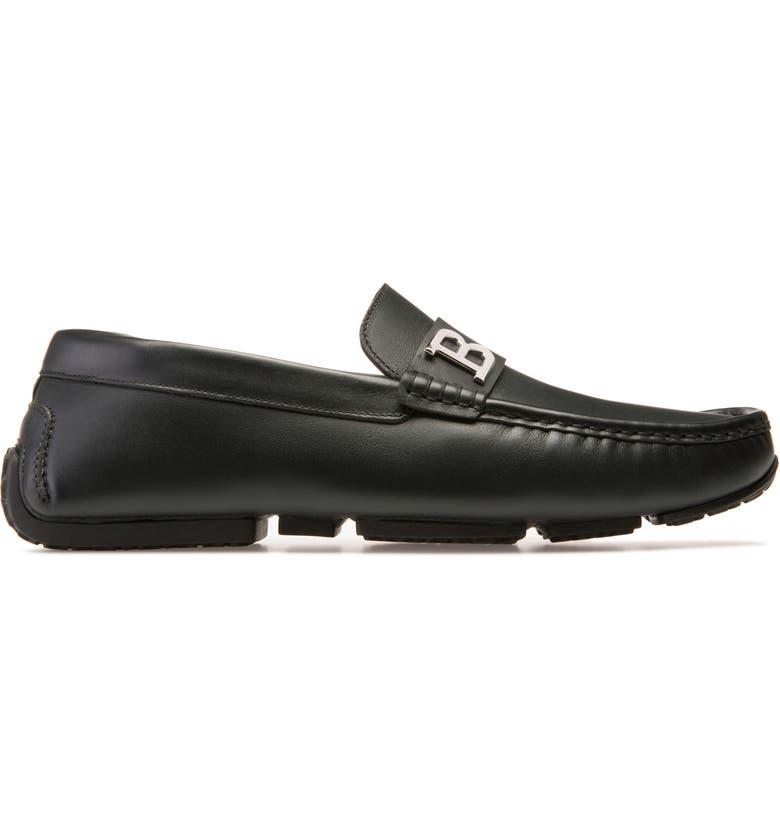 BALLY Pievo Driving Shoe, Main, color, BLACK