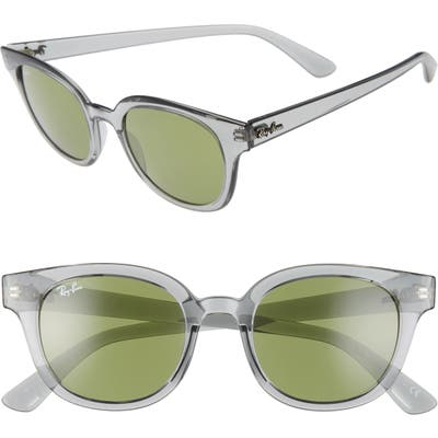 Ray-Ban 50Mm Cat Eye Sunglasses - Grey/ Green Solid