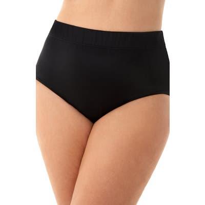 Plus Size Miraclesuit Bikini Bottoms, Black