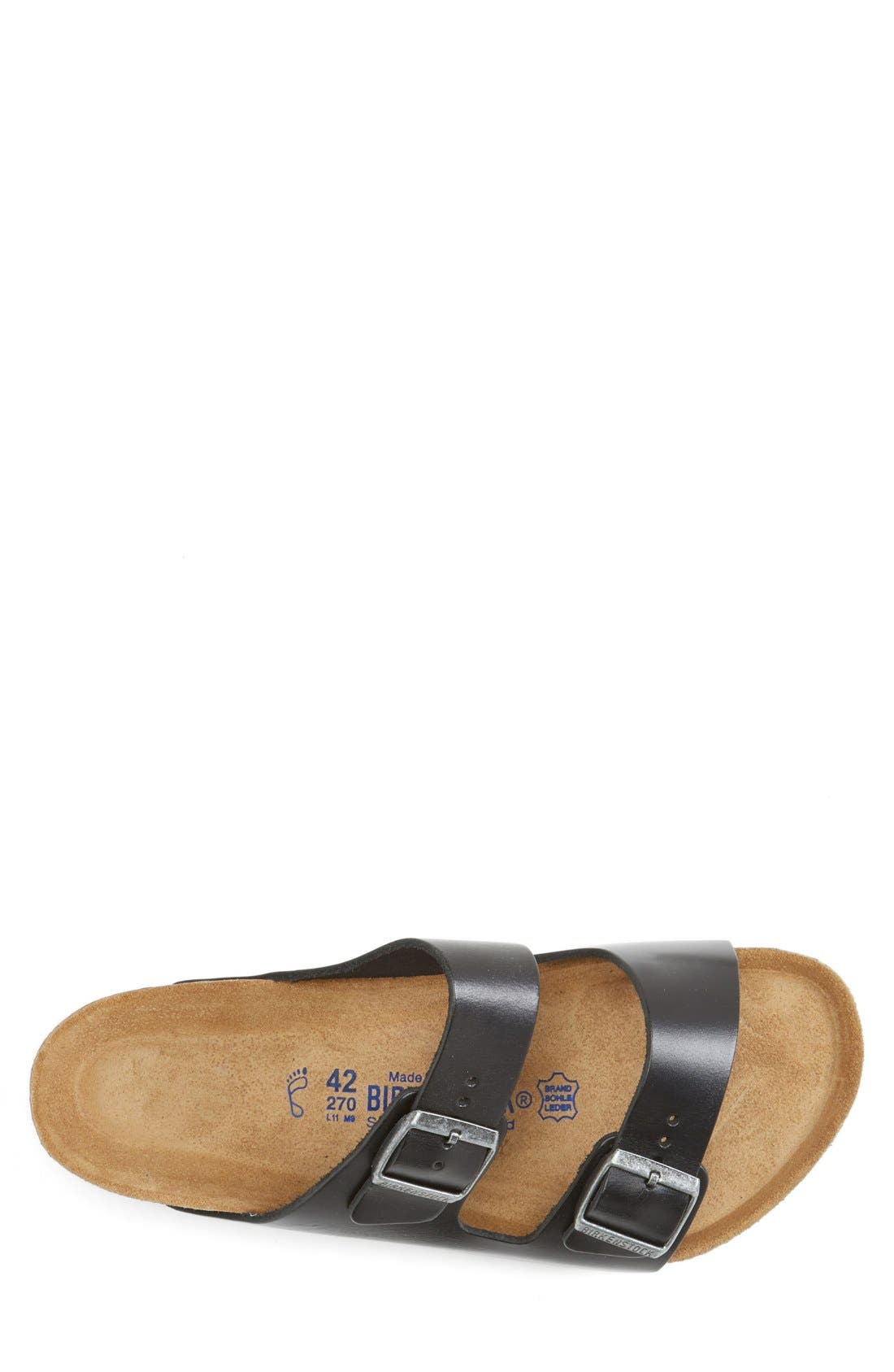 ,                             'Arizona Soft' Sandal,                             Alternate thumbnail 3, color,                             BLACK