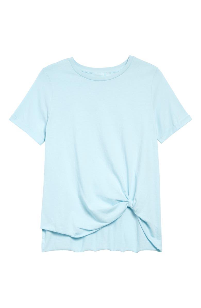 ZELLA Tuck Front T-Shirt, Main, color, BLUE ORYDALIS