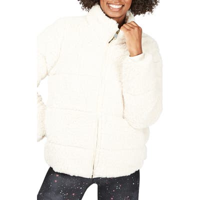 Sweaty Betty Faux Shearling Bomber Jacket