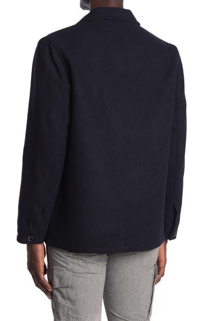 Image of Michael Kors Melton Button Front Utility Jacket