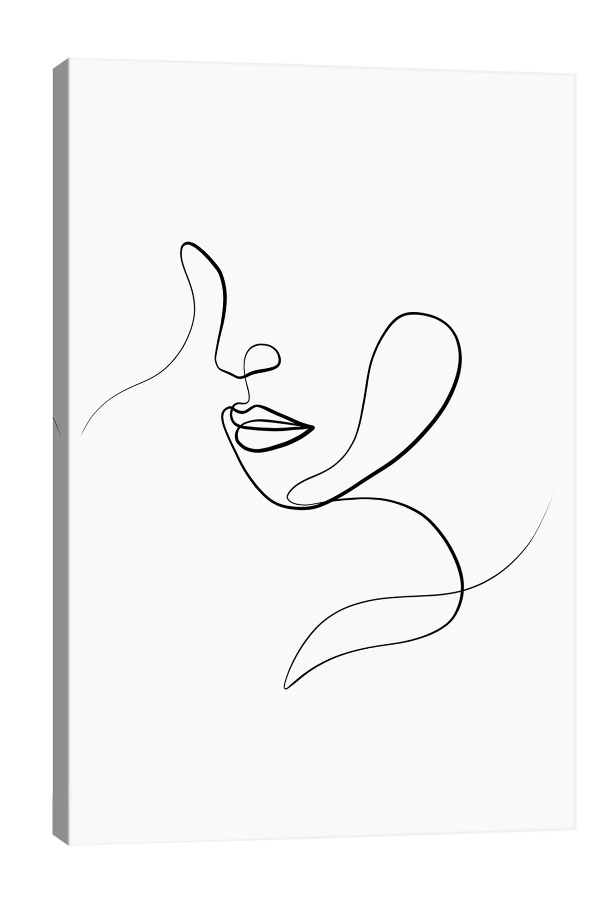 Image of iCanvas Femme Face III by Dane Khy Canvas Art