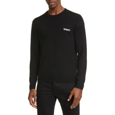 Givenchy Logo Patch Wool Sweater, Black