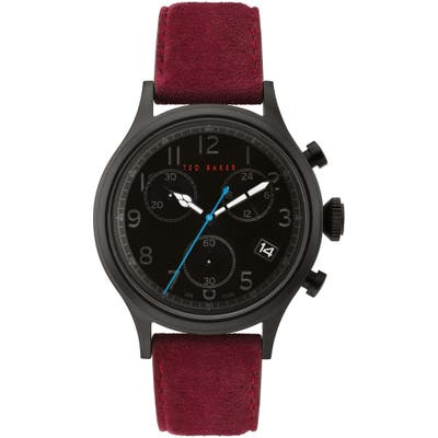 Ted Baker London Lngisla Chronograph Leather Strap Watch, 42Mm