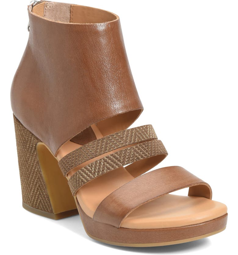 KORK-EASE<SUP>®</SUP> Hickland Sandal, Main, color, BROWN LEATHER/ SUEDE