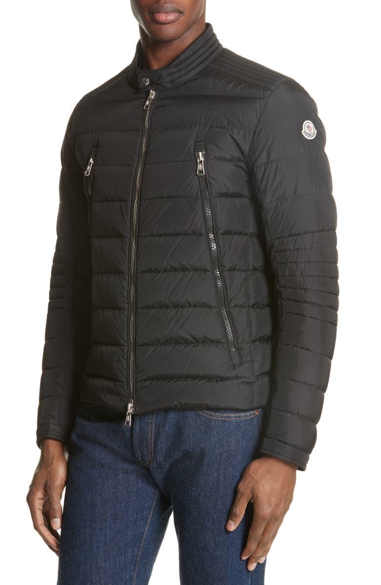 MONCLER Amiot Giubbotto Water Resistant Down Jacket, Main, color, BLACK