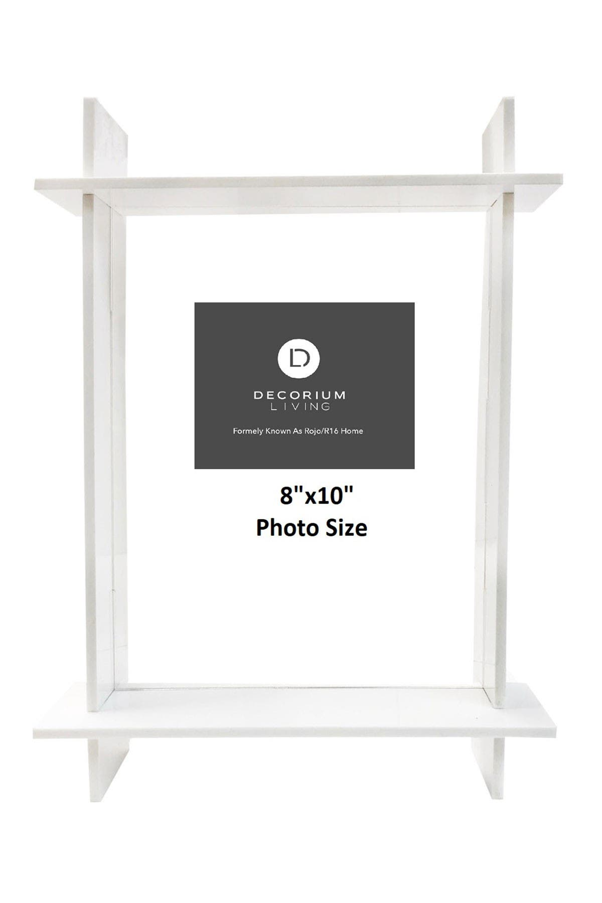 "Image of R16 HOME White Lucite 8"" x 10"" Frame"