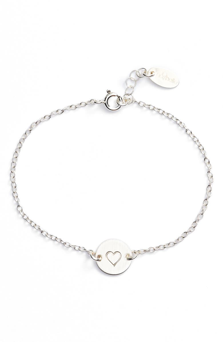 NASHELLE Mini Coin Bracelet, Main, color, SILVER