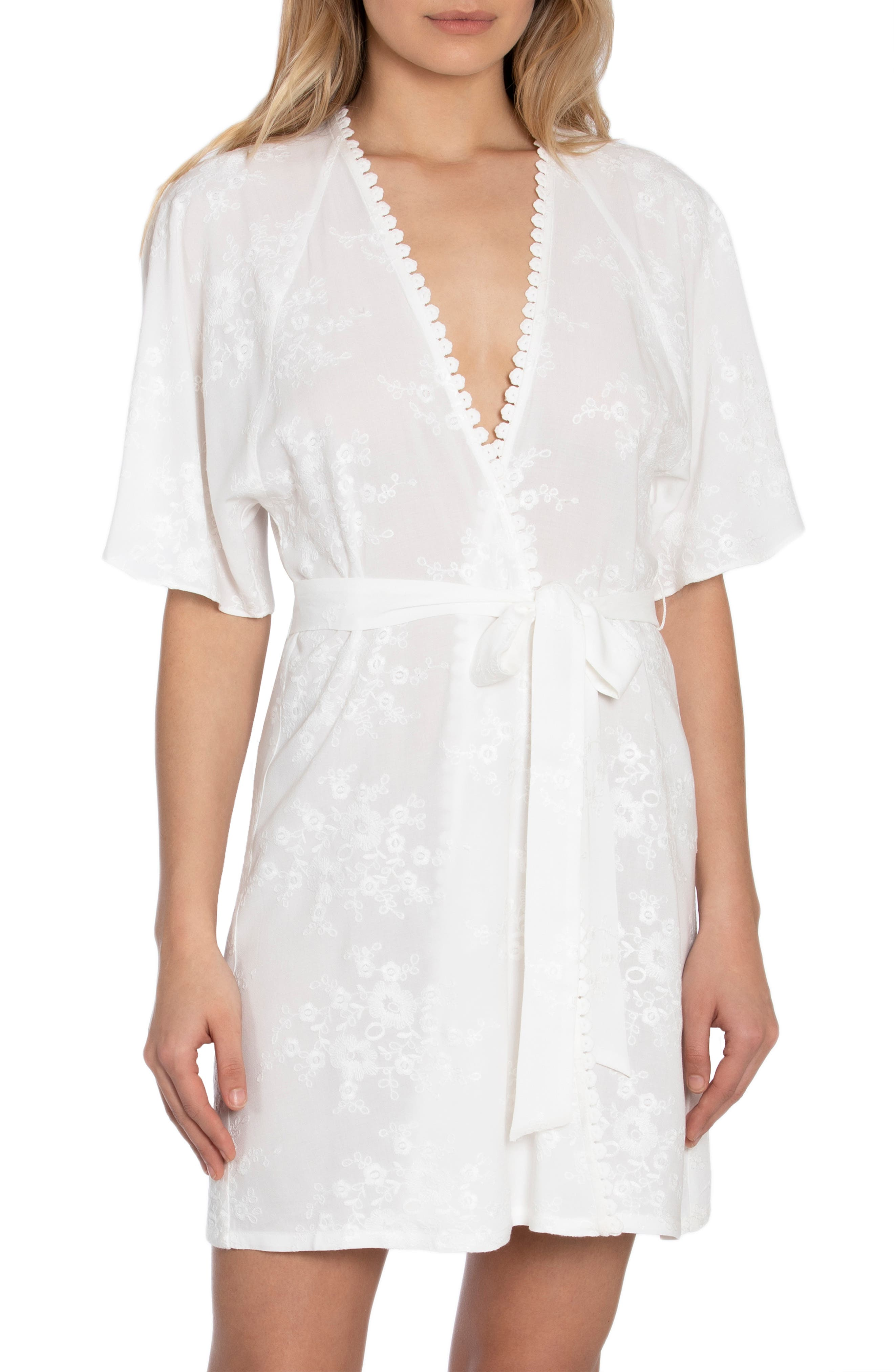 Free As A Bird Embroidered Short Robe