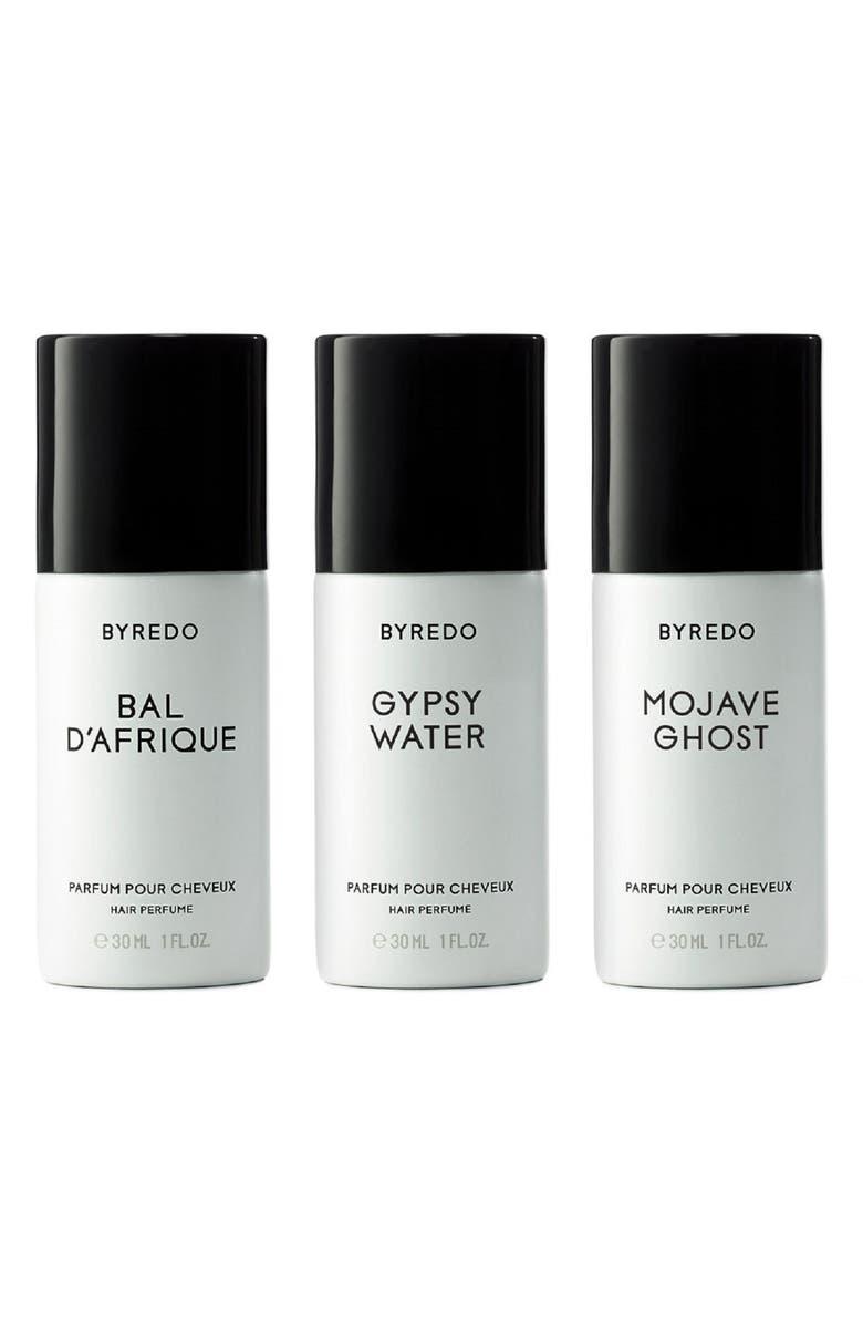 BYREDO Triplé Gannant Bois Hair Perfume Trio, Main, color, 000