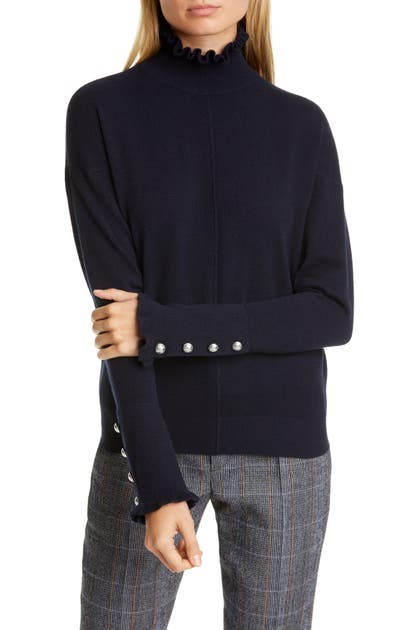 Chloé Sweaters RUFFLE HIGH NECK CASHMERE SWEATER