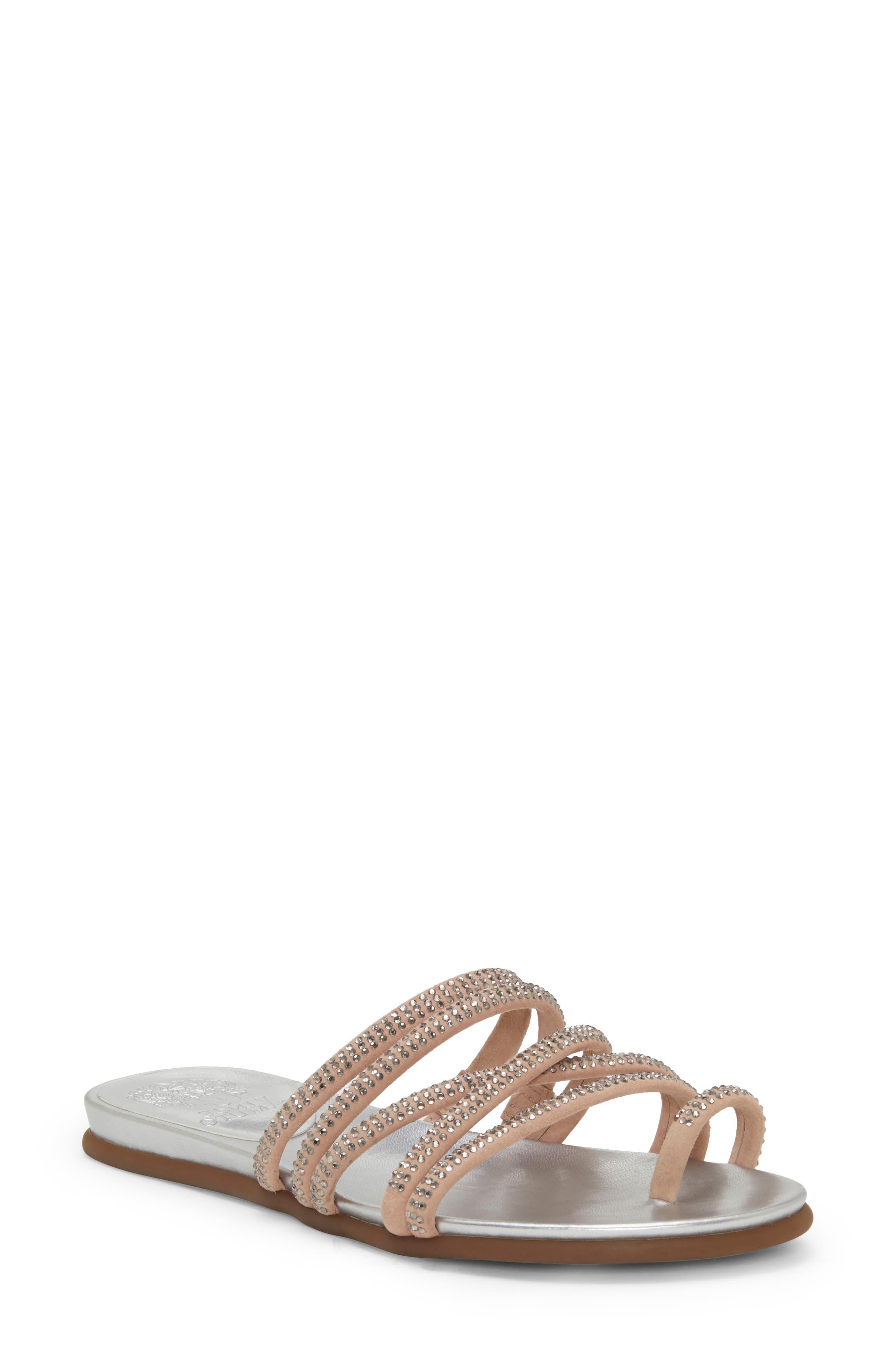 Vince Camuto Ezzina Crystal Embellished Slide Sandal, Pink
