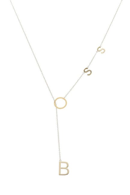 Image of ADORNIA 14K Yellow Gold Plated Sterling Silver Boss Lariat Necklace
