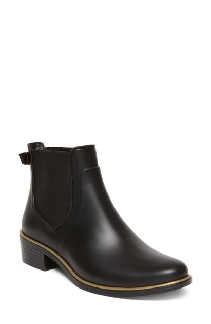 Kate Spade Sally Chelsea Rain Boot In Black