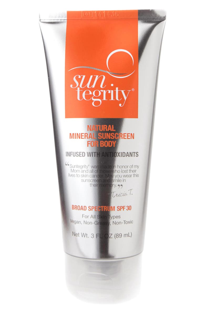 SUNTEGRITY Natural Mineral Sunscreen for Body Broad Spectrum SPF 30, Main, color, NO COLOR