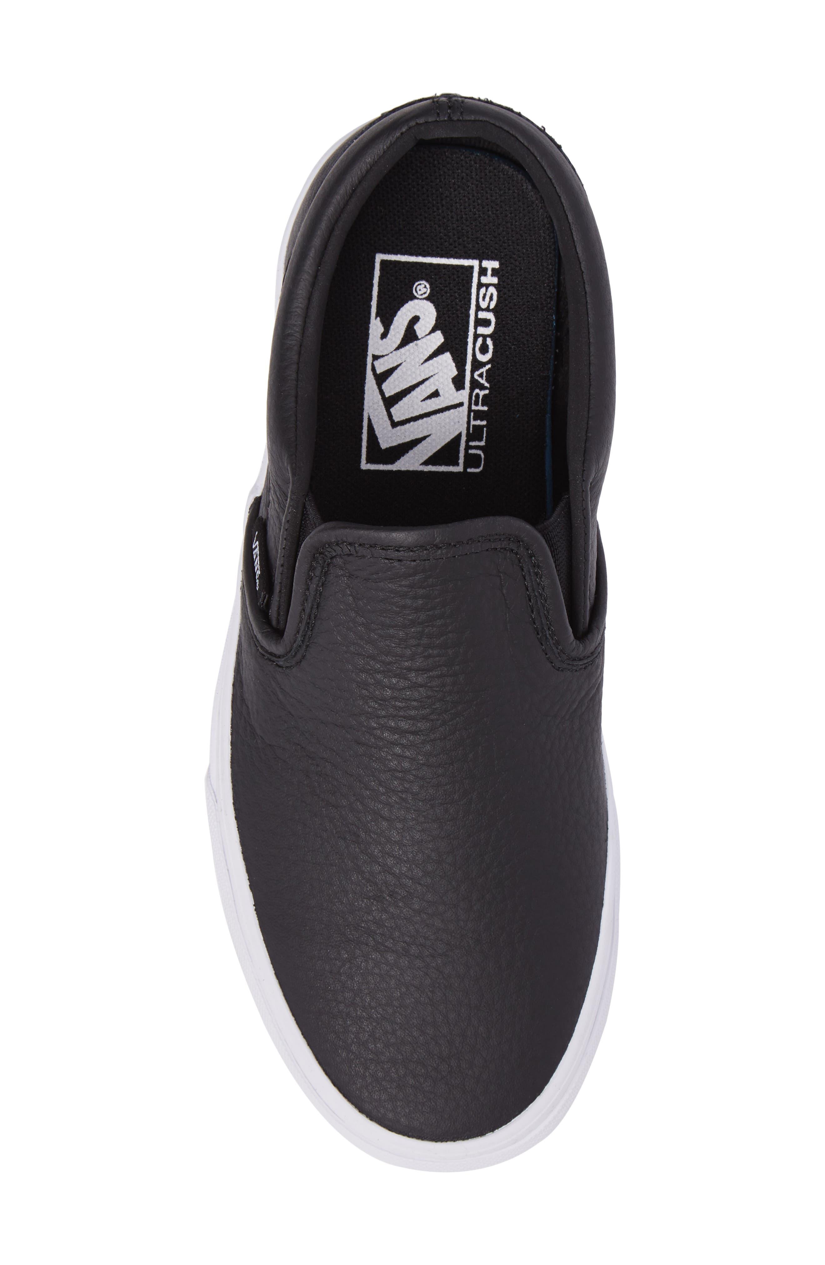,                             Classic Slip-On Sneaker,                             Alternate thumbnail 5, color,                             BLACK/ TRUE WHITE