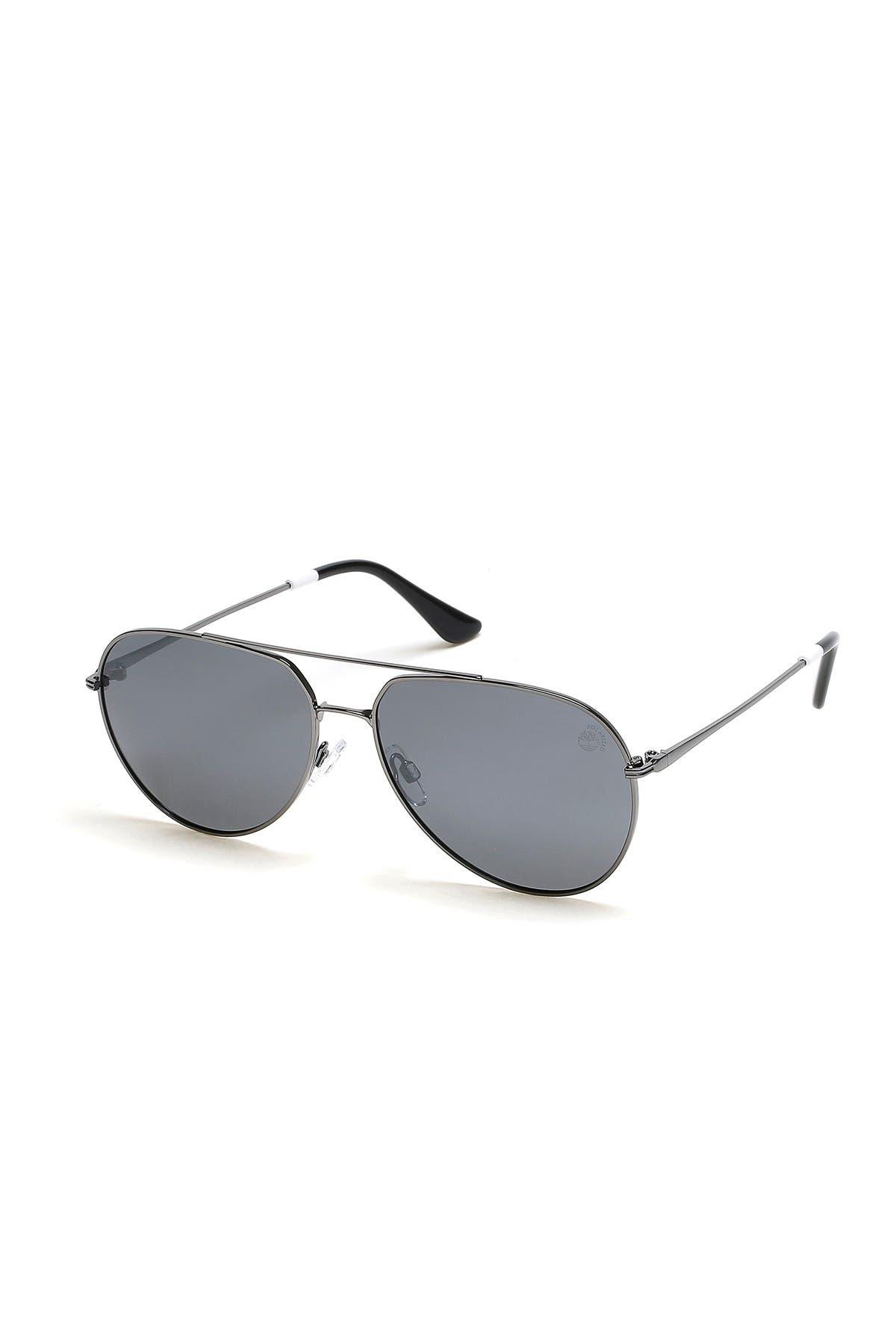 Image of Timberland 60mm Aviator Sunglasses