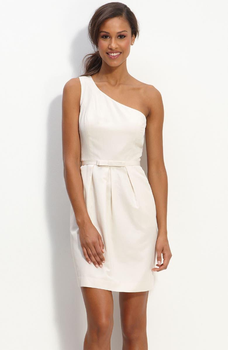 GLINT One Shoulder Faille Dress, Main, color, 250