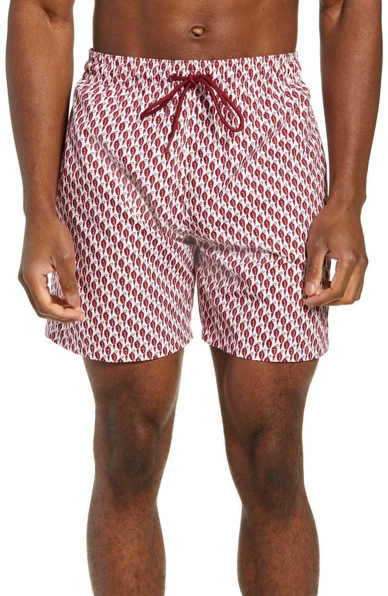 RODD & GUNN Winslow Regular Fit Swim Trunks, Main, color, SANGRIA