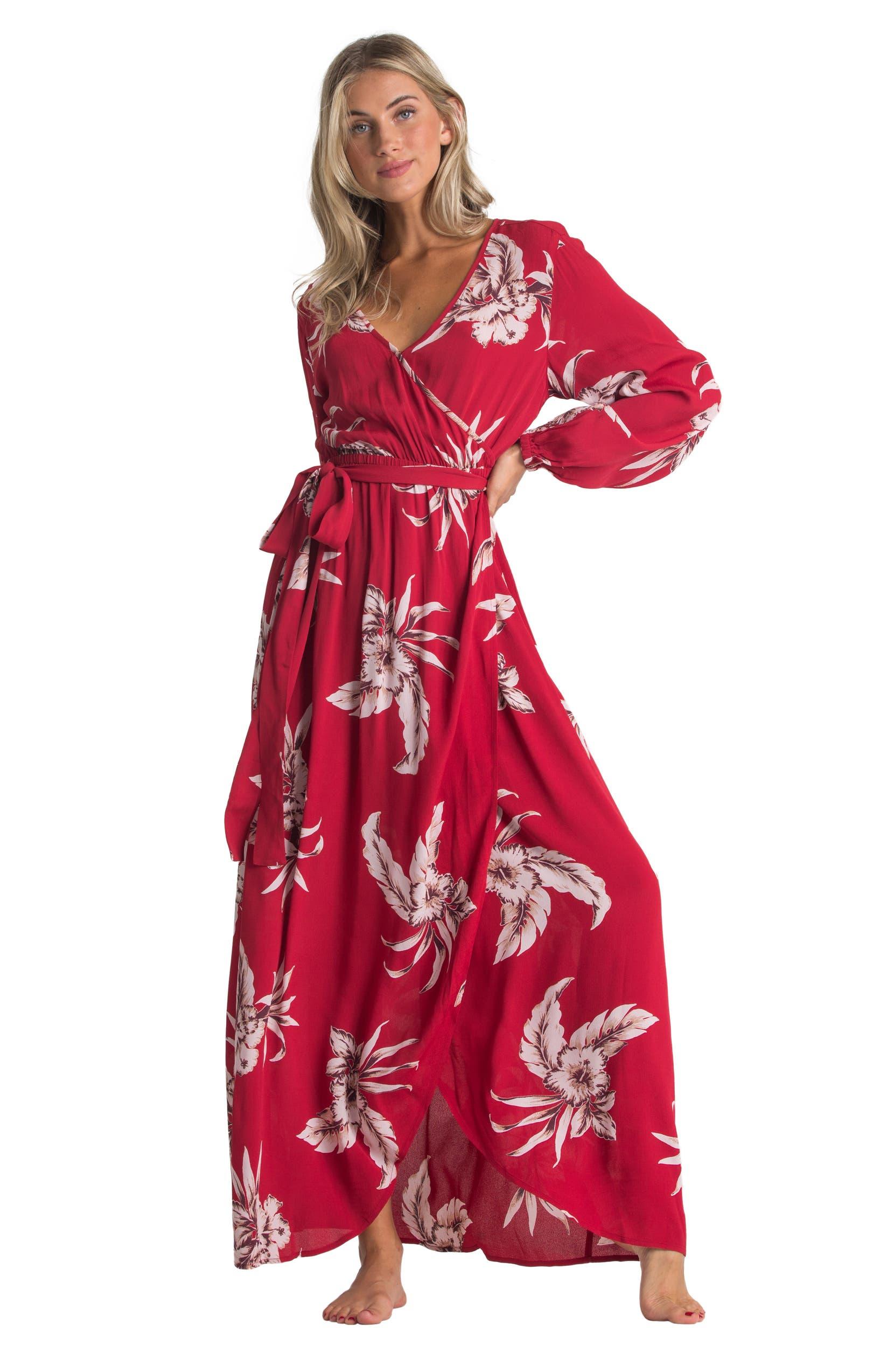 df3ef40f3 Billabong Kauai Floral Print Long Sleeve Maxi Dress | Nordstrom