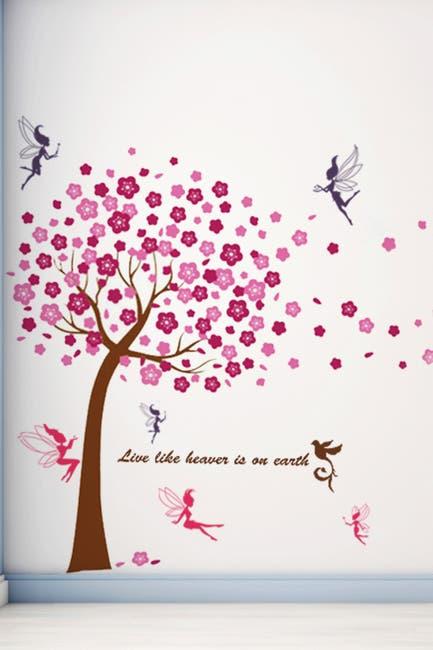 Image of WalPlus Huge Pink Tree & Fairies Decal