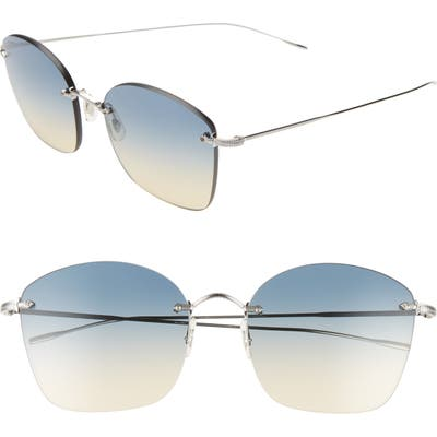 Oliver Peoples Marlien 5m Sunglasses - Silver/ Yellow Gradient Blue