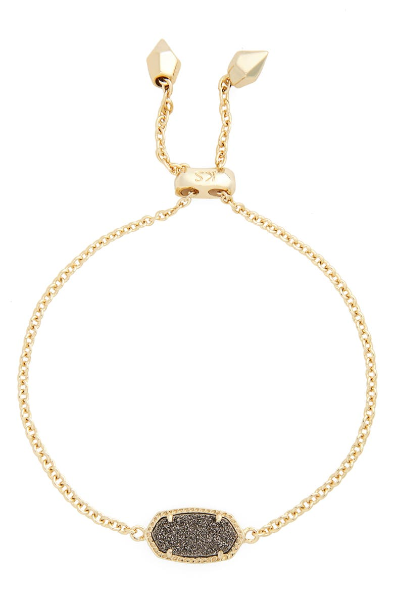 KENDRA SCOTT Elaina Bracelet, Main, color, PLATINUM DRUSY/ GOLD