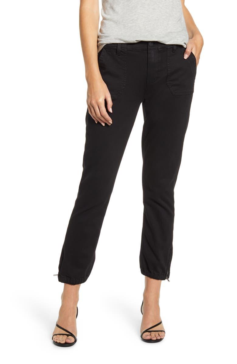 PAIGE Mayslie Jogger Pants, Main, color, BLACK OVERDYE