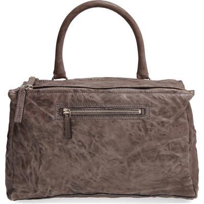 Givenchy Medium Pepe Pandora Leather Satchel - Grey