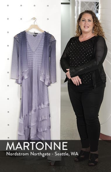 Charmeuse & Chiffon Tiered Hem Dress with Jacket, sales video thumbnail