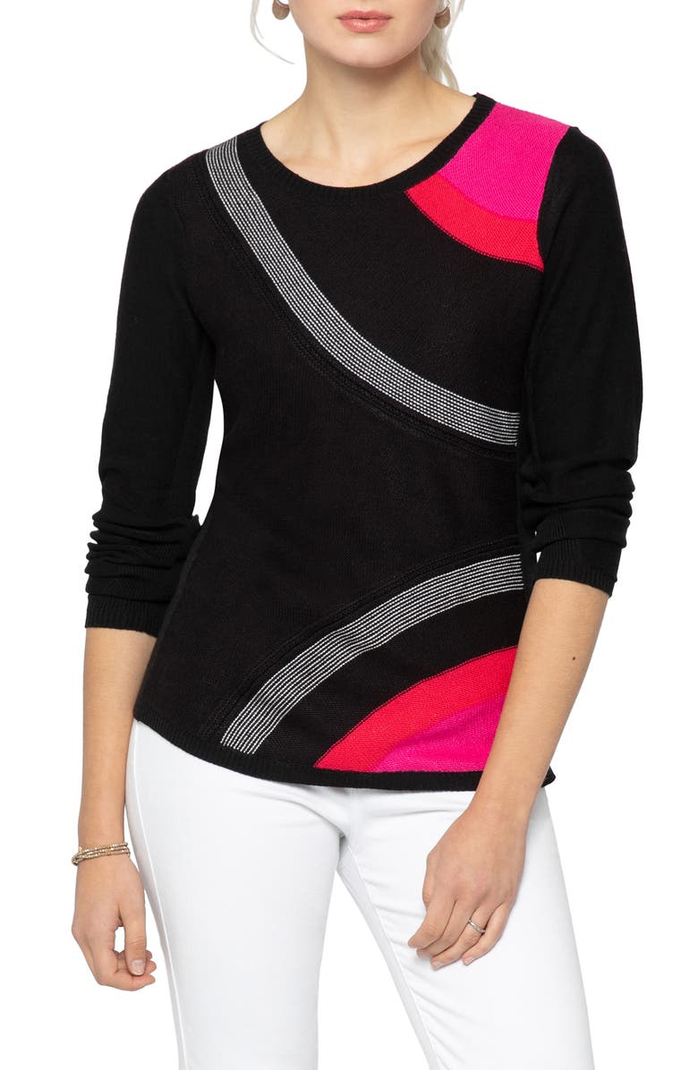 NIC+ZOE Inner Circle Sweater, Main, color, 009