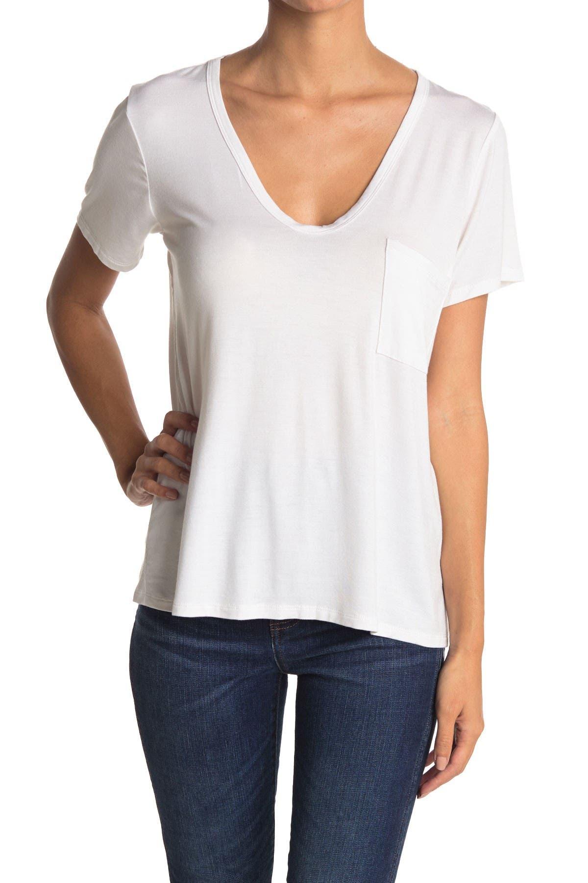 Image of Lush Scoop V-Neck T-Shirt