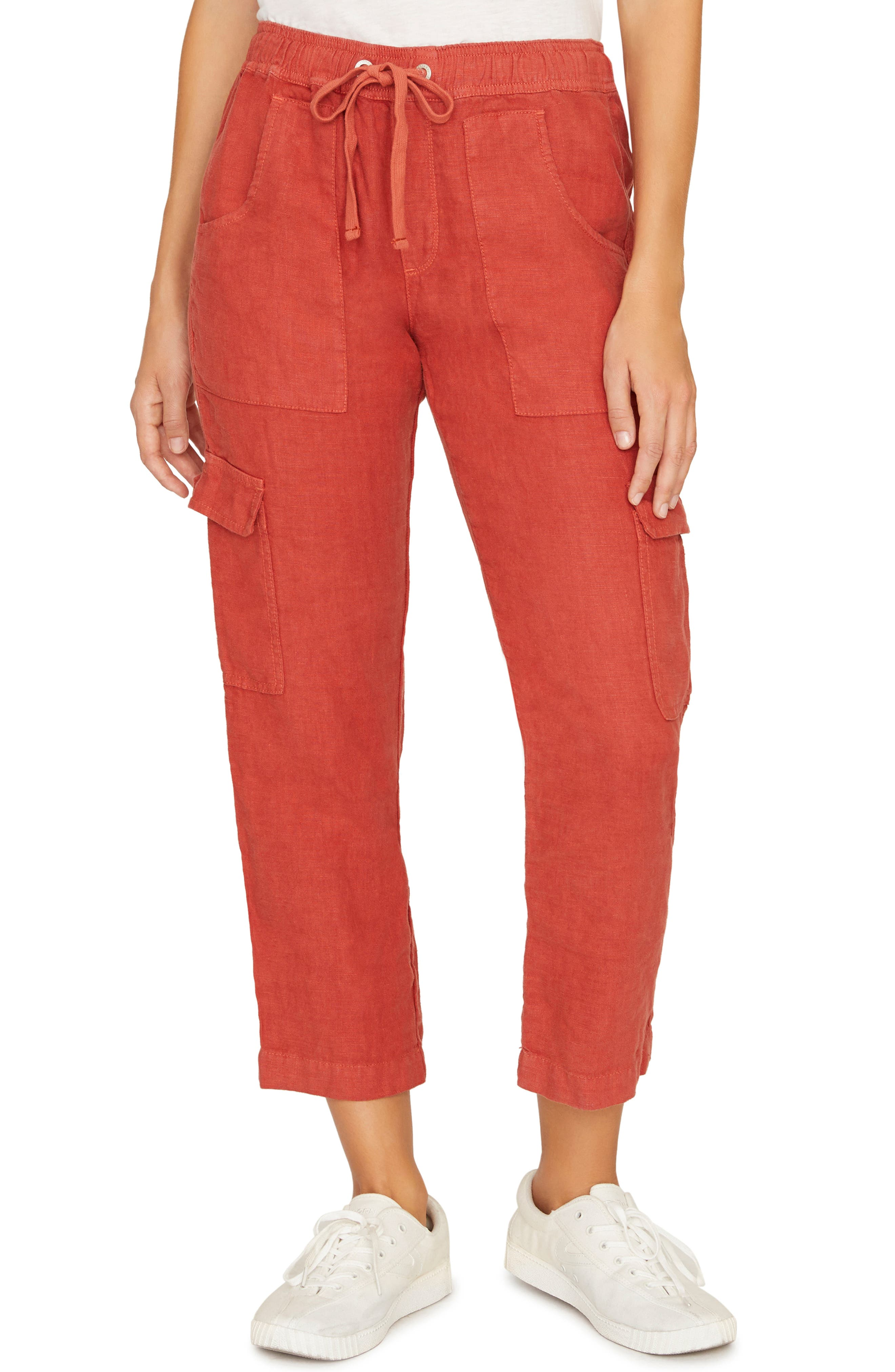 Sanctuary Discoverer Pull-On Cargo Pants, Coral