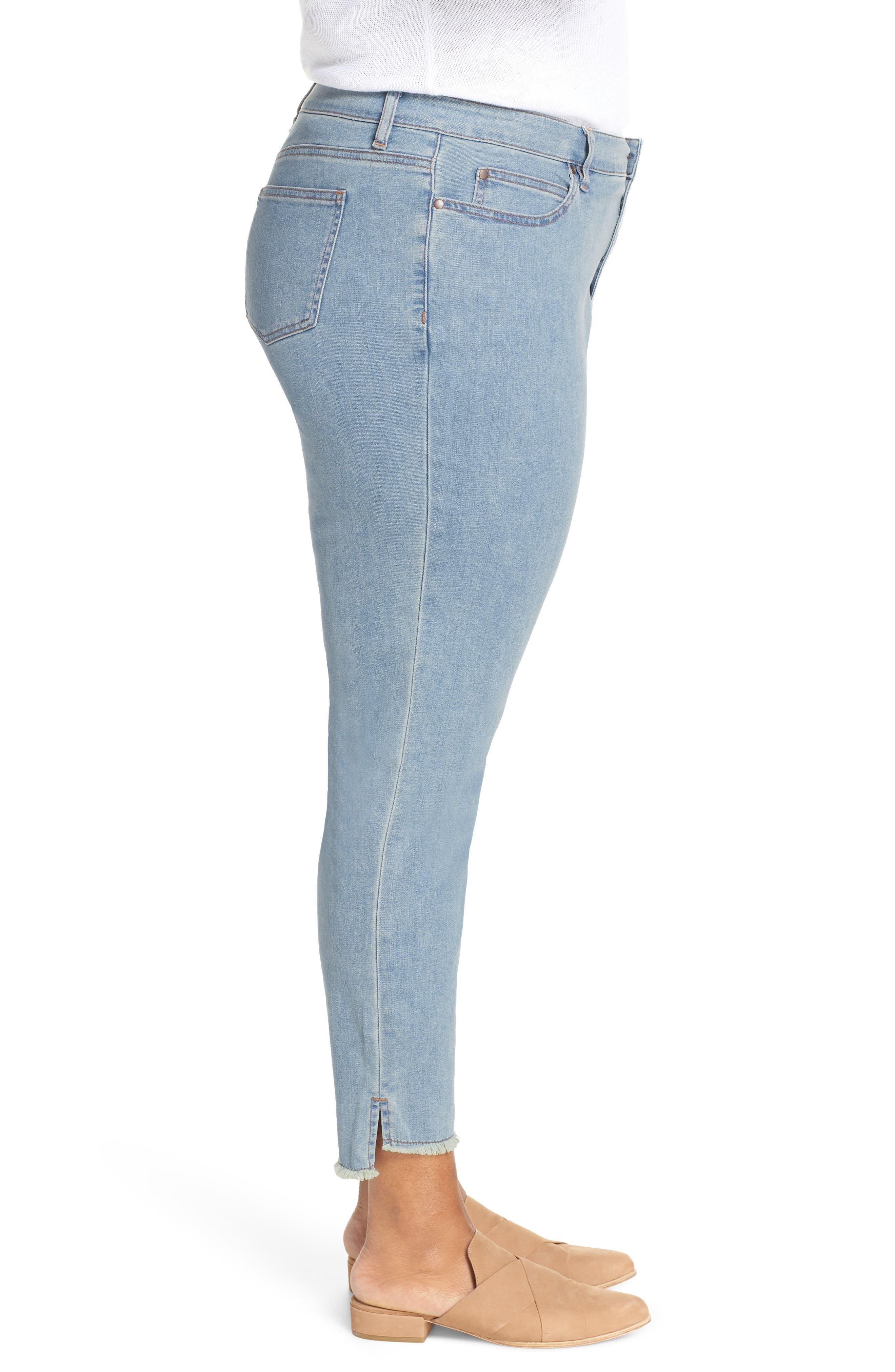 ,                             Fray Step Hem Ankle Skinny Jeans,                             Alternate thumbnail 4, color,                             472