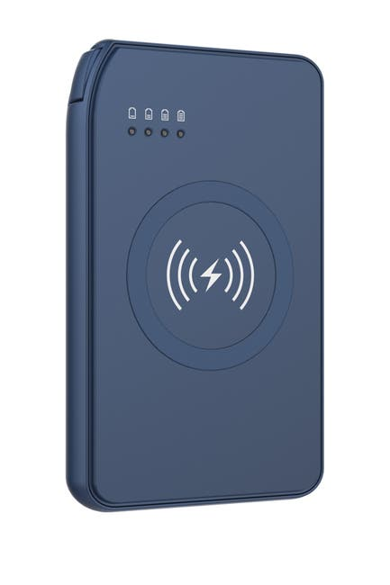 Image of Tech Elements Navy Power bank with wireless charger in-Navy