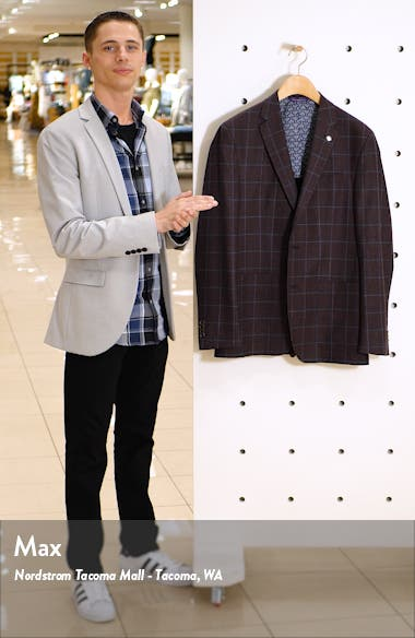 Kyle Windowpane Wool Sport Coat, sales video thumbnail