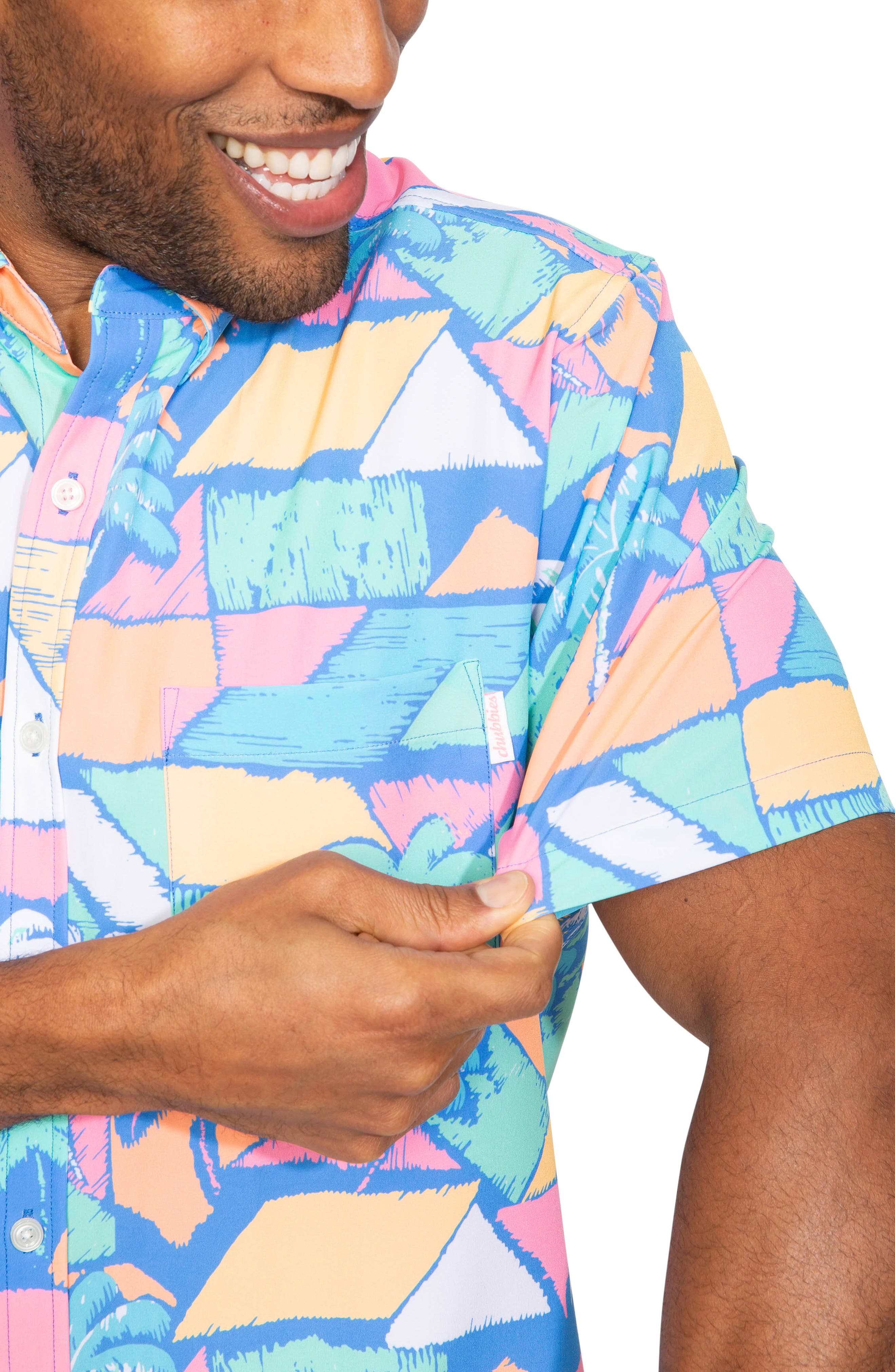 ,                             Vintage Palm Block Print Shirt,                             Alternate thumbnail 2, color,                             VINTAGE PALM BLOCKS