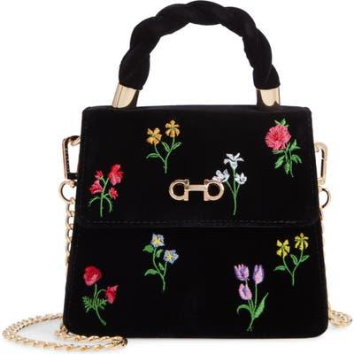 Skinnydip Alix Shadow Velvet Top Handle Handbag - Black