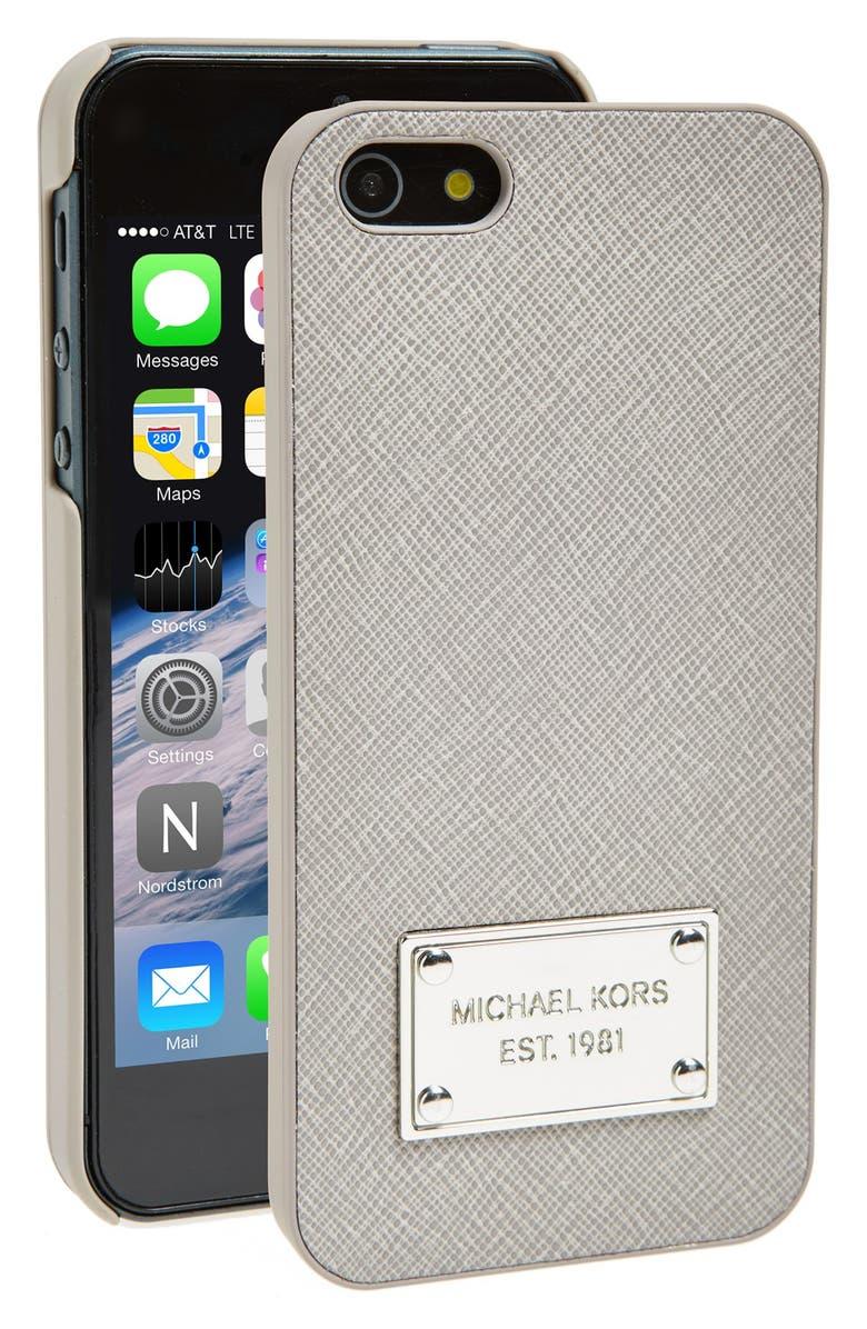MICHAEL MICHAEL KORS Saffiano Texture iPhone 5 Case, Main, color, 050